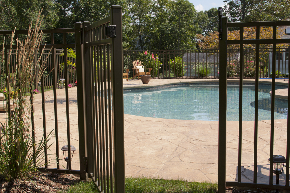 A new luxury home installed fences for a private pool
